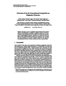 Overview of the 5th International Competition on Plagiarism Detection