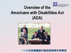 Overview of the Americans with Disabilities Act (ADA)