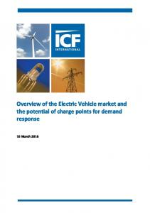Overview of the Electric Vehicle market and the potential of charge points for demand response