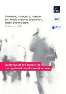 Overview of the factors for management development success