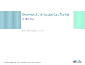 Overview of the Hospice Care Market