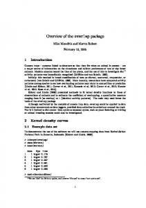 Overview of the overlap package