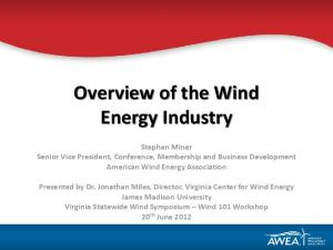 Overview of the Wind Energy Industry