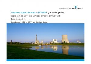 Overview Power Services POWERing ahead together