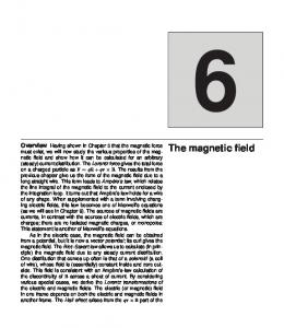 Overview The magnetic field