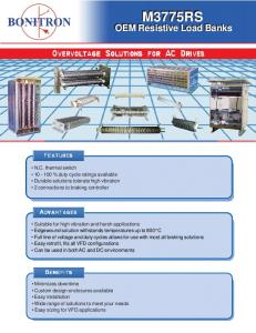 Overvoltage Solutions for AC Drives