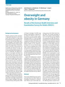 Overweight and obesity in Germany