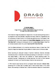 Owner Drago Centro, IL Pastaio, Drago Bakery, Drago Air Catering & Drago Catering & Special Events