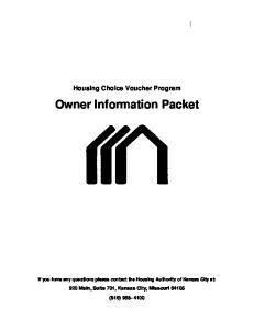 Owner Information Packet