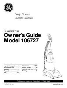 Owner s Guide Model