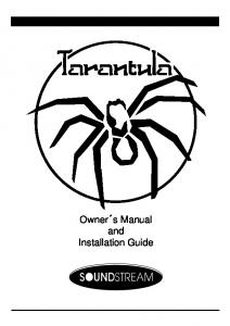 Owner s Manual and Installation Guide