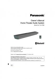 Owner s Manual Home Theater Audio System
