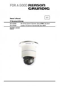 Owner s Manual IP Cameras & Domes