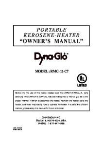 OWNER S MANUAL MODEL : RMC- 11-C7