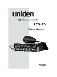 Owner s Manual PC78LTD. Printed in Vietnam U01UT407ZZA(0)