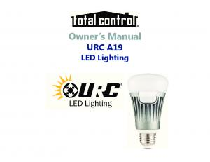 Owner s Manual URC A19 LED Lighting