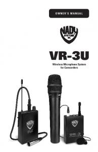Owner s Manual VR-3U. Wireless Microphone System for Camcorders