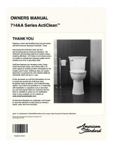 OWNERS MANUAL 714AA Series ActiClean