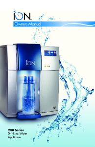 Owners Manual. 900 Series Drinking Water Appliance