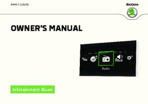 OWNER'S MANUAL Infotainment Blues