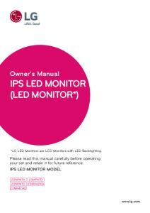 Owner's Manual IPS LED MONITOR (LED MONITOR*)