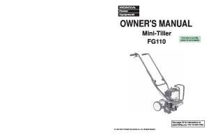 OWNER'S MANUAL Mini-Tiller FG110