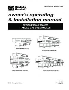 owner's operating & installation manual