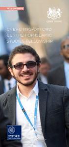 OXFORD CENTRE FOR ISLAMIC STUDIES FELLOWSHIP