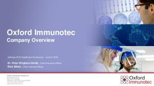 Oxford Immunotec Company Overview