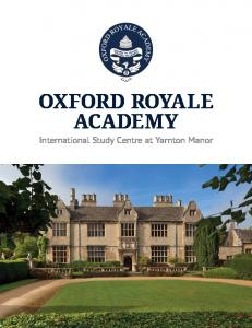 OXFORD ROYALE ACADEMY International Study Centre at Yarnton Manor