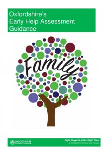Oxfordshire s Early Help Assessment Guidance