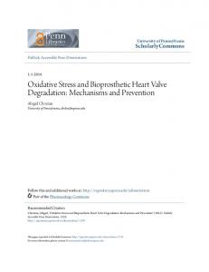 Oxidative Stress and Bioprosthetic Heart Valve Degradation: Mechanisms and Prevention