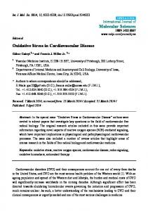 Oxidative Stress in Cardiovascular Disease