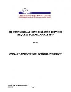 OXNARD UNION HIGH SCHOOL DISTRICT