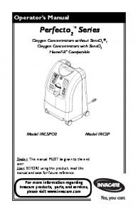 Oxygen Concentrators without SensO 2. , Oxygen Concentrators with SensO 2 HomeFill Compatible