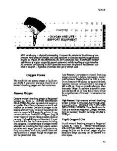 Oxygen Forms. Gaseous Oxygen FM 31-19