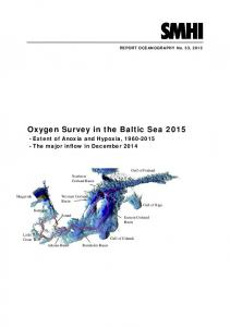 Oxygen Survey in the Baltic Sea 2015