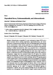 Oxyradical Stress, Endocannabinoids, and Atherosclerosis