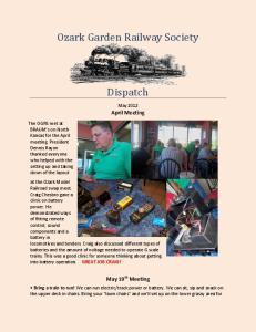 Ozark Garden Railway Society. Dispatch