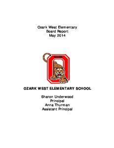Ozark West Elementary Board Report May 2014