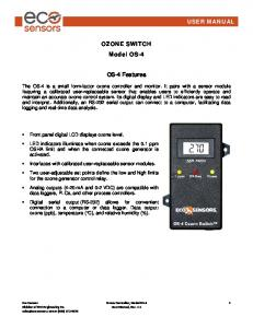 OZONE SWITCH Model OS-4. OS-4 Features