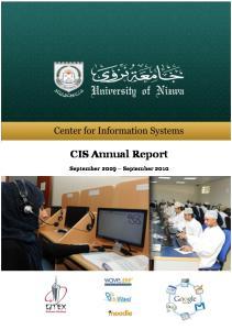 P a g e 1. CIS Annual Report