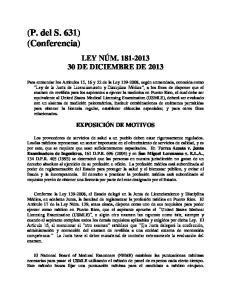 (P. del S. 631) (Conferencia)
