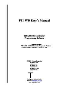 P11-WD User s Manual