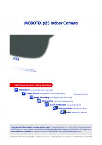 p25 Technical Specifications MOBOTIX p25 Indoor Camera