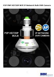 P2P PNP HD720P Wifi IP Network Bulb DVR Camera