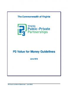 P3 Value for Money Guidelines