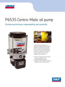 P653S Centro-Matic oil pump
