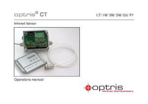 P7 Operators manual Infrared Sensor
