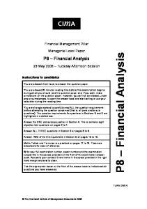 P8 Financial Analysis